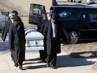 Captains Truitt and Johnson serving as pallbearers for Tuskegee Airman - Dr. Quentin Smith